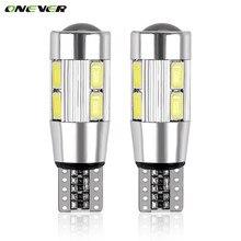 Ampoules LED 194 W5W Canbus 10 SMD 5630, 2 pièces, lumière latérale de voiture sans erreur, lumière de stationnement