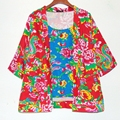 Лето Национальный Ветер Большой Цветок Хлопка Кардиган Куртки Женщин 2017 Пальто Повседневная С Длинным Рукавом Тонкий Плюс Размер