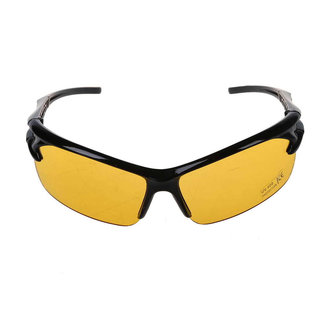 black frame yellow Night Vision sheet outdoor Cycling Sunglasses