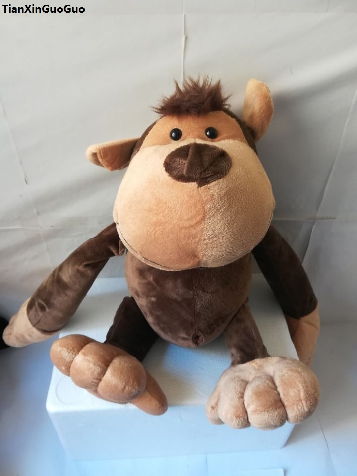 Stuffed animal large 45cm jungle monkey plush toy soft doll throw pillow birthday gift w2833