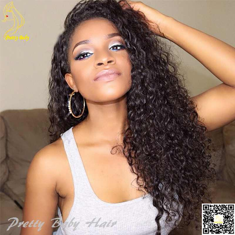 Kinky Curly Human Hair Full Lace Wigs Virgin Indian Remy