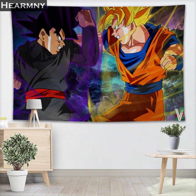 HEARMNY Dragon Ball Super Tapestry Wall Hanging Decor Tapestry Show Piece For Home Decoration Camping Tent Travel Sleeping Pad