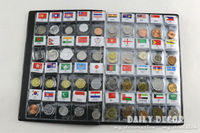World Genuine Coin Collection Album from 120 Country China Asia UK Europe AU coin holder book / album with 120 world coins