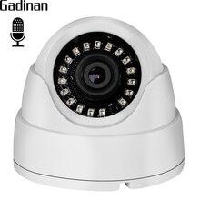 GADINAN Wide Angle 2.8mm Lens Internal Audio Dome IP Camera 720P 960P Hi3518EV200 Built-in Microphone DC 12V 48V PoE Optional