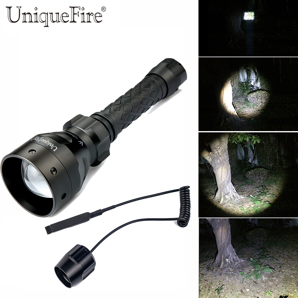 UniqueFire Lantern, 1406 CREE XML T6 LED Flashlight, Outdoor Water Resistant Handheld Torch With Adjustable Focus+Rat Tail uniquefire 1508 75 cree xml xml2 led flashlight torch 1200lm single file lantern 18650 adjustable focus for camping
