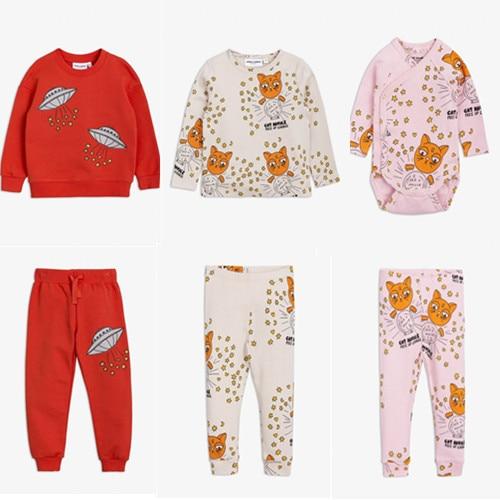 2018 bobo choses autumn winter BABY BOY CLOTHES BABY GIRL CLOTHES GIRLS HOODIES VESTIDOS VETEMENT BOYS CLOTHING set kids pajama