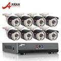 Sistema de cctv 8ch anran 1080n 1800tvl saída hdmi dvr 720 p ir ao ar livre câmera de cctv home security sistema de vigilância por vídeo kits