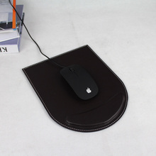 Leather Office Home Working Dest Mat, Compute Mouse Pad Black & Brown Office Desk Set