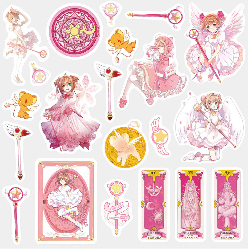 Cute Kawaii Cartoon Cardcaptor Sakura Girl Sticker Package Decorative Stationery Stickers Scrapbooking DIY Diary Album Scrapbook