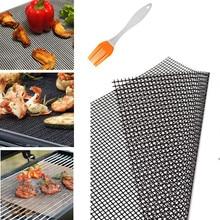Антипригарные коврики для жарки барбекю высокозащищенная сетка форма коврик для барбекю термостойкий многоразовый гриль сетка для активного отдыха барбекю