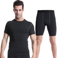 Drying Men Compression Pants Set Running Tights Workout Fitness Training Run Suits Clothes Sports Set 2pcs