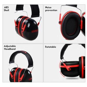Image 3 - UVEX K3 Soundproof Earmuffs Noise Reduction Foam Earmuffs 33dB SNR 27dB NRR Adjustable Headband for Industrial Sleeping Travel