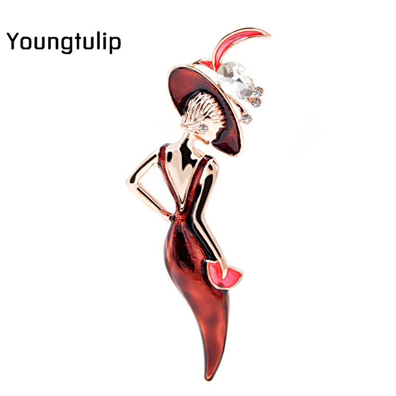 Young Tulip 2018 High Quality New Elegant Lady Pin Brooches Fashion Jewelry for Women Dress Suit Accessories Good Gift Hot Sale