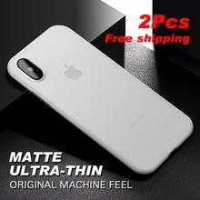 Original Phone case for iphone 7 8 Ultra Thin Cute colors PP cases Apple Plus Fashion flexibility back Case