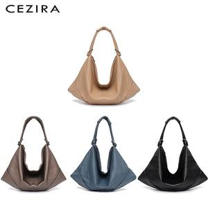 Image 5 - CEZIRA Large Hobo Bags Women Vegan Shoulder Bag High Quality Soft PU Leather Tote Fashion Light Ladies HandBag Crossbody Bag Sac