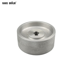 130*55*19/24mm Fully Aluminum Contact Wheel Active wheel for belt machine with Keyway