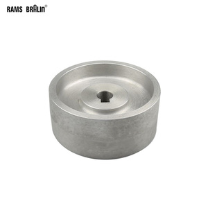 Image 1 - 130*55*19/24mm Fully Aluminum Contact Wheel Active wheel for belt machine with Keyway