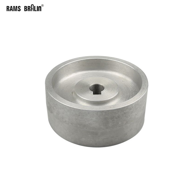 130*55*19/24mm Voll Aluminium Kontaktieren Rad Aktive rad für gürtel maschine mit Nut