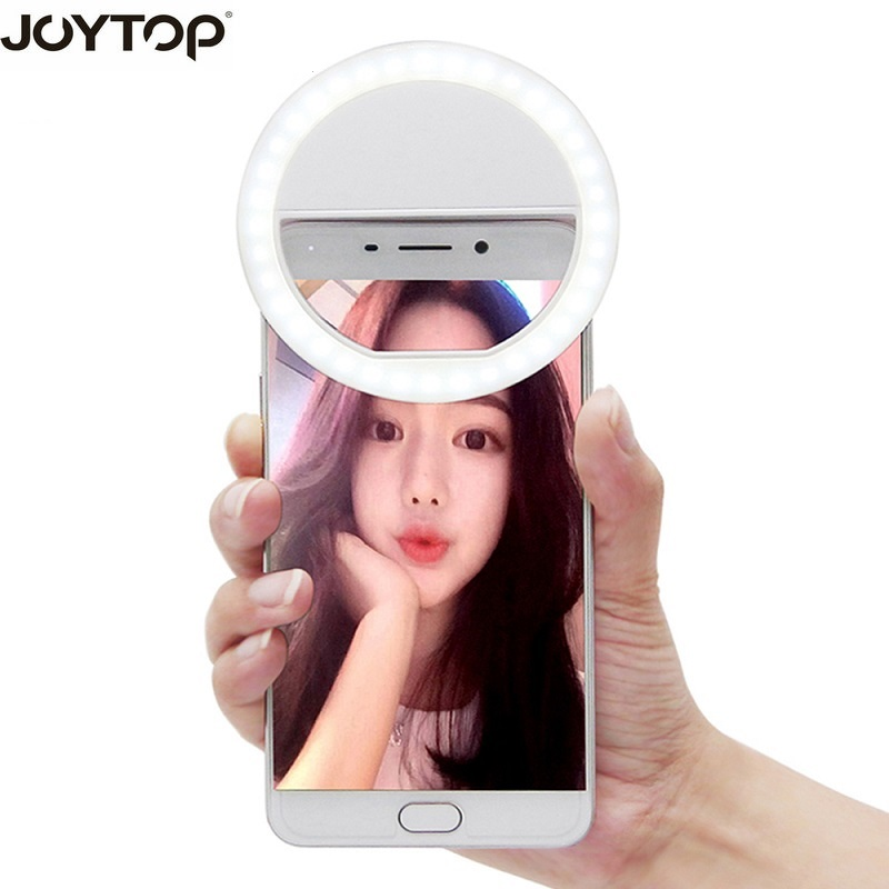 JOYTOP 36 LED Portable Selfie Flash Led Caméra Clip-sur Mobile téléphone Selfie anneau lumière vidéo lumière Nuit Améliorer remplir Lumière