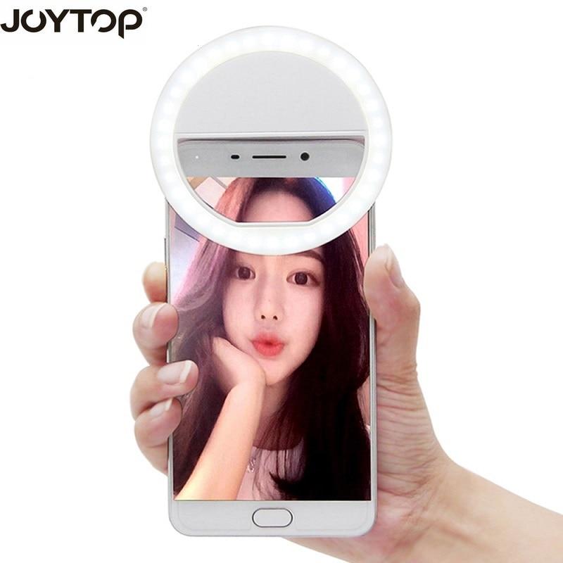 JOYTOP 36 LED Portable Selfie Flash Led Camera Clip-on Mobile phone Selfie ring light video light Night Enhancing Fill Light rock rot0770 selfie stick night led fill light blue