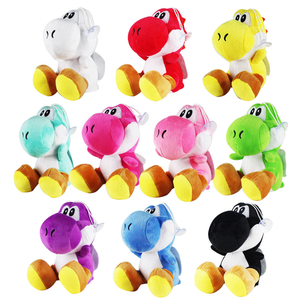 17cm Super Mario Bros Green Yoshi Plush Stuffed Dolls Mario Plush Toys Plush doll Figures toys 10 colors
