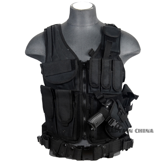 Professional Tactical Vest Army Airsoft Military Molle Combat Assault CS tactical Vest with Gun holster Vest colete tatico balistico swatt paintball airsoft 15%off cs airsoft game tactical military combat traning protective security vest
