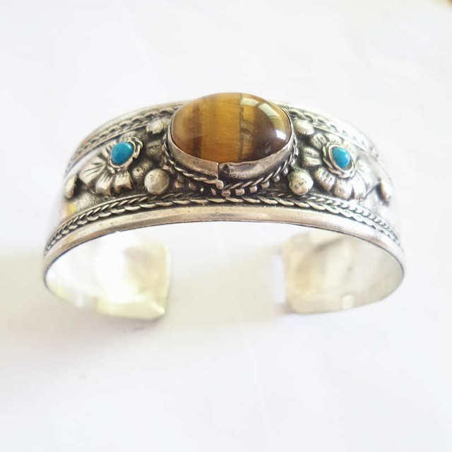 Tibetan Cuff with Stone