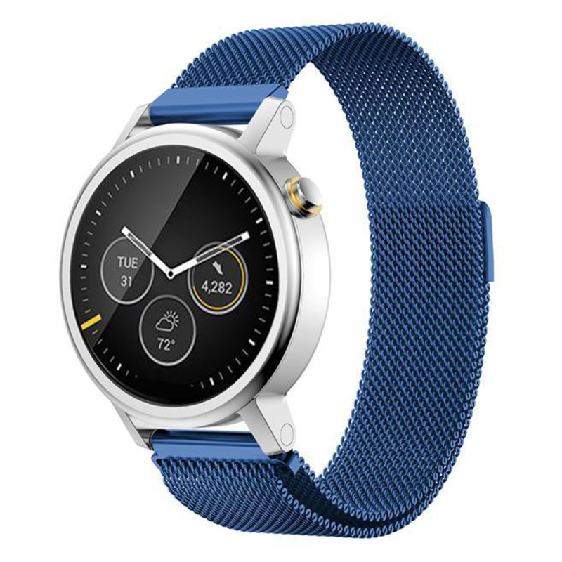 Milanese Magnetic Loop Stainless Steel Band For MOTO 360 2nd Smart Watch Blue 46MM milanese magnetic loop stainless steel band for moto 360 2nd smart watch sliver 42mm