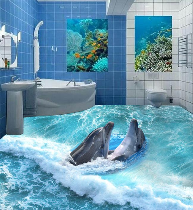 Dolphin Bathroom Tiles: Popular Dolphin Wallpaper-Buy Cheap Dolphin Wallpaper Lots
