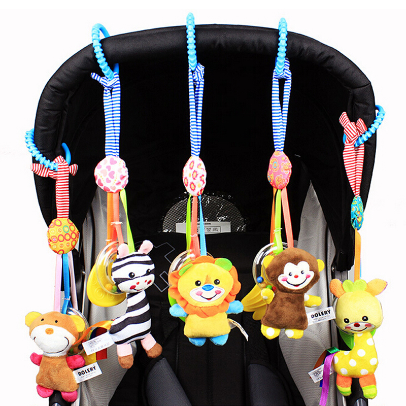 Hot Sale Infant Toys Mobile Baby Plush Toy Bed Wind Chimes Rattles Bell Toy Baby Crib Bed Hanging Bells Toys