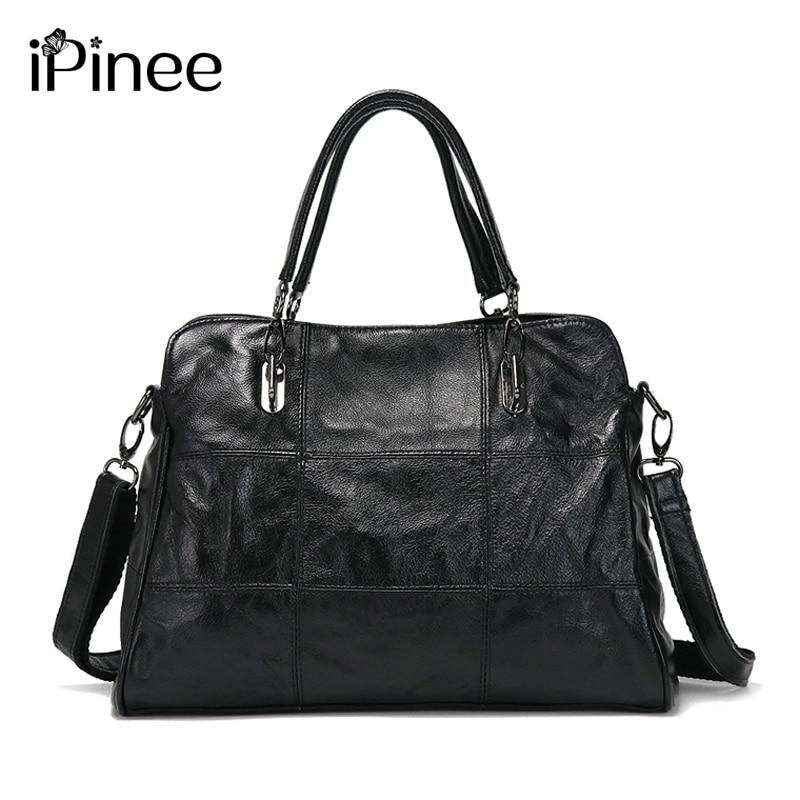 iPinee High Quality Retro Vintage Women's Genuine Leather Handbag,Women Leather Handbags ,Women Messenger Shoulder Bags Bolsas F