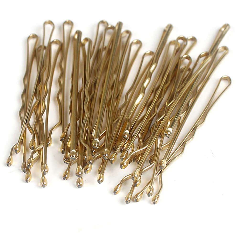24 pz/set Oro Nero Dei Capelli Spilli per Le Donne Invisibile Clip di Capelli Della Signora Bobby Spilli Ricci Onda Hairgrip Barette Capelli Pinze accessori