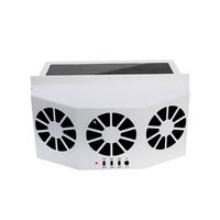 1set Car Fan Ventilation Solar Car Three Hood Auto Exhaust Fan Radiator solar car desuperheater powerful power