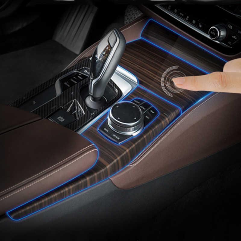 Kiểu Dáng Xe Cho Xe BMW G30 G38 5 Series TPU Cao Cấp Viền Bảng Điều Khiển CD Bảng Rõ Ràng Sơn Bảo Vệ Bộ Phim Dán