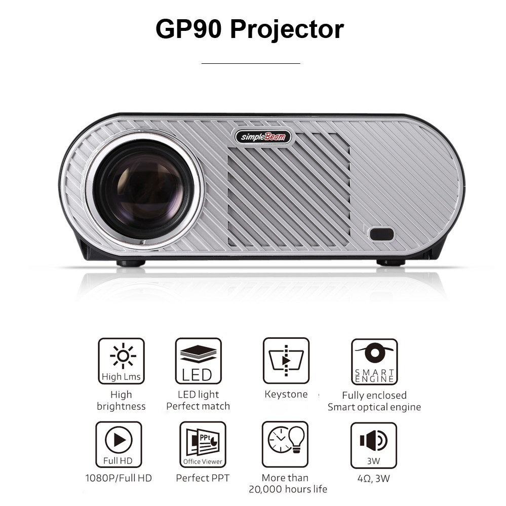 Vivibright GP90 GP90UP Lcd Projector Full HD Projector Home Theater Proyector 3200 Lumen 1280x800 Movie Cinema USB Video Beamer cheap china digital 1000lumens hdmi usb home theater best hd 1080p portable pico lcd led video mini projector beamer proyector