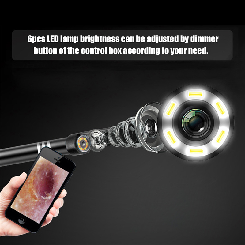 Ear otoscope 2 In 1 USB Endoscope HD Visual Ears Cleaning mini usb camera with 6LED Light for Phone/Micro USB/Type-C/USB PCEar otoscope 2 In 1 USB Endoscope HD Visual Ears Cleaning mini usb camera with 6LED Light for Phone/Micro USB/Type-C/USB PC