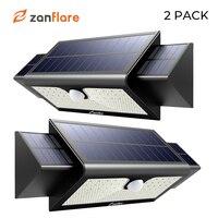 Светодиодный светильник на солнечной батарее, датчик движения для двора, садовый набор из 2