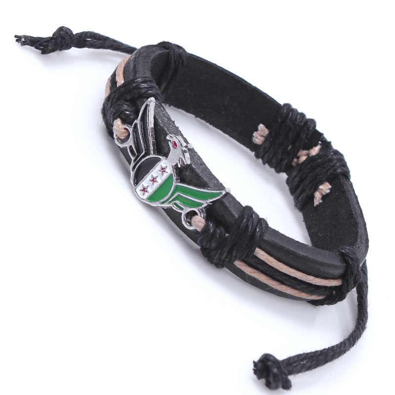 新しい中東シリア砂漠スタイル金属ブレスレット英語手紙ブレスレット卸売カスタムフラグファッションジュエリー
