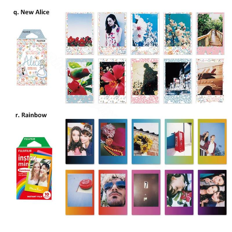 Genuine Fujifilm Instax Mini 8 9 Film Color Photo Paper 10pcs For Fuji 9 8 7s 50s 50i 90 25 70 Share SP-2 SP-1 Instant Camera