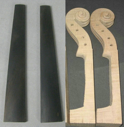 Diligent 2pcs Maple Violin Necks 4/4 And Violin Ebony Fingerboards Stringed Instruments
