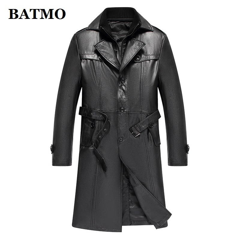 Men's Clothing Generous Batmo 2019 New Arrival Spring 100% Natural Cow Leather Double Breasted X-long Trench Coat Men,mens Real Leather Jackets Al15 Do You Want To Buy Some Chinese Native Produce?