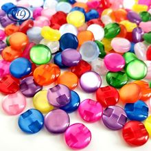 HL 12MM 50/100pcs Lots Colors Cat Eye Resin Shirt Buttons Pearl Buttons Garment Sewing Accessories DIY Crafts(China)