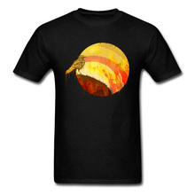 Super Discount Men's New T Shirts SUNSET SPIRIT Animal Birds Cotton Men's Design T Shirt Latest Fitness Tight Tops T Shirt Male стоимость