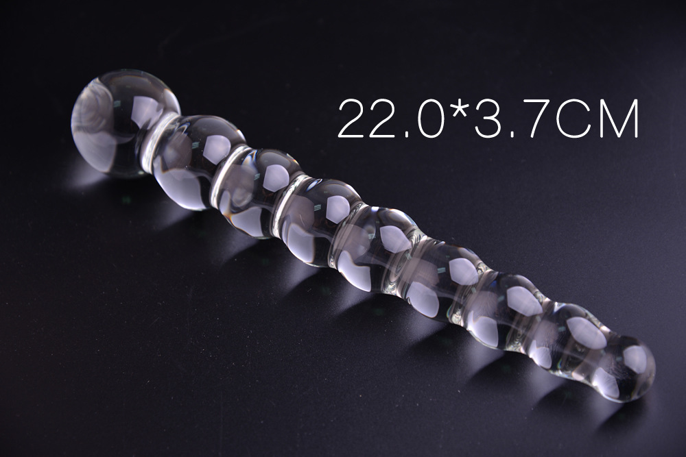 2237Cm Crystal Glass Dildos Anal Beads Butt Plug With 9 -6602