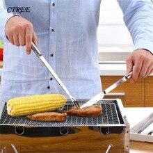 CTREE 2 шт./компл. креативный нож для барбекю/вилка из двух частей вилка для обжарки на открытом воздухе для пикника кухонная вилка для барбекю нож C336