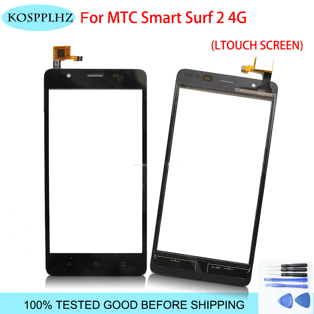 KOSPPLHZ Tape Mobile Phone Touchscreen For Mtc Smart Surf 2 4g Touch Screen Panel Digitizer Front Glass Sensor Surf2 Accessories