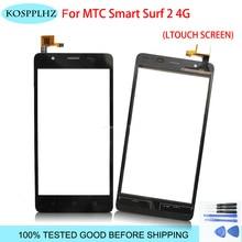 KOSPPLHZ ленты сенсорный экран мобильного телефона для MTC Smart Surf 2 4G Сенсорный экран Панель планшета Переднее Сенсорное стекло surf2 аксессуары
