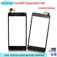Kosplhz cinta teléfono móvil pantalla táctil para mtc smart surf 2 4g pantalla táctil digitalizador Sensor de cristal delantero surf2 accesorios