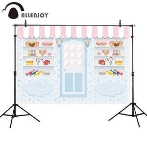 Image 1 - Allenjoy fotografia fundos loja de doces sorvete pequeno bebê 1st aniversário photobooth photo studio fotográfico pano de fundo