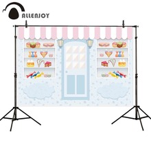 Allenjoy photography backgrounds candy store ice cream little baby 1st birthday photobooth photo studio photographic backdrop